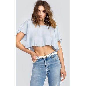 NEW Wildfox Chambray Stripe Taylor Top